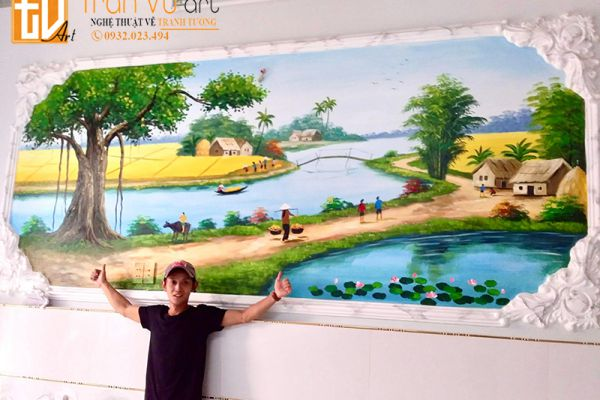 Mẫu vẽ tranh tường phong cảnh