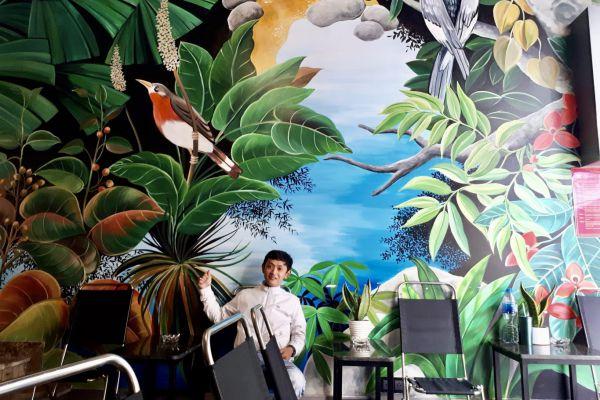 Vẽ tranh tường quán cafe giá rẻ tại đồng nai