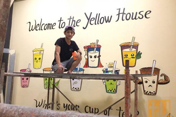 Vẽ tranh tường trang trí quán trà sữa